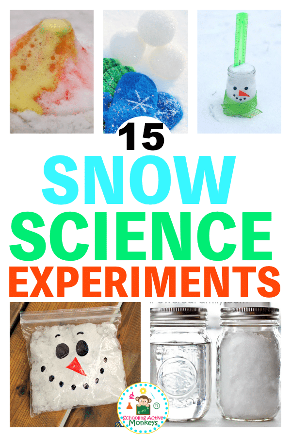 Snow science experiments are a fun way to introduce winter science to kids! Winter science lessons for elementary kids will keep them learning all winter long. #stemactivities #scienceexperiment #science #winteractivities #kidsactivities
