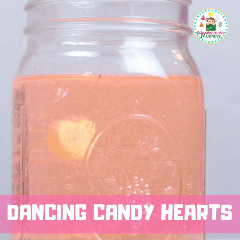 Love Valentine's Day? Love science? You'll have a blast with this dancing conversation heart Valentine science project! #valentinesday #scienceforkids #science #scienceexperiments #stemed #stem #handsonlearning