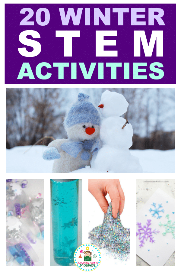 Kids will have a blast with these winter STEM activities! Make winter learning fun with winter science, winter technology, winter engineering, and winter math! #winteractivities #stemactivities #scienceexperiment #kidsactivities