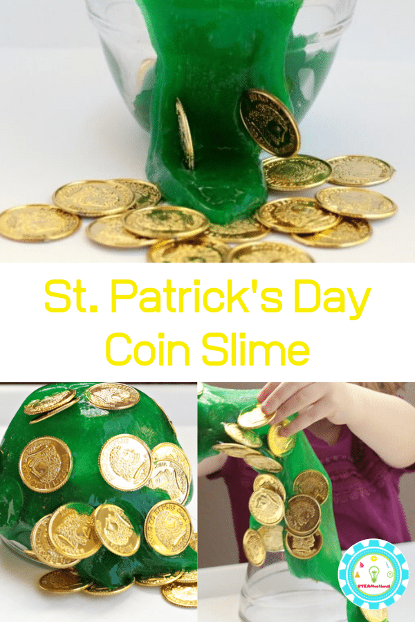 If your kids love slime recipes (and what kid doesn't right now?), they they will love this fun St. Patrick's Day slime with a treasure hunt twist!