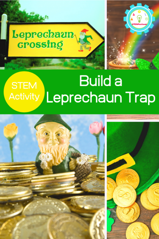This leprechaun trap STEM activity will push kids' creativity and engineering skills to the max and they will have endless fun designing and testing their leprechaun traps in this engineering activity for kids.