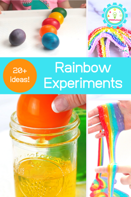 If you love rainbows, you won't want to miss these exciting ways to learn with rainbows through rainbow science experiments!