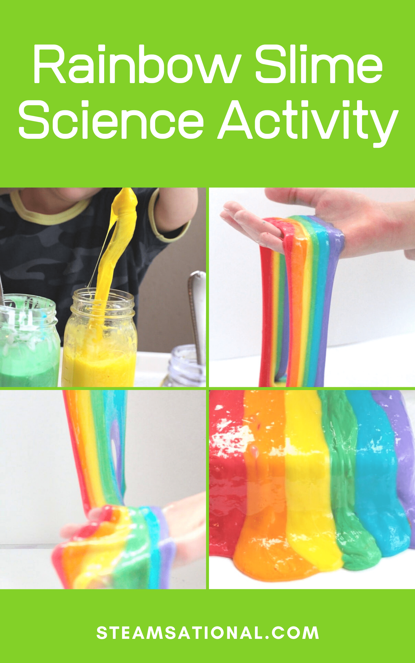 rainbow slime science experiment
