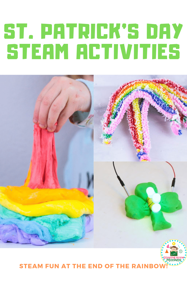 St. Patrick's Day crafts are not the only activity you can do this March! Bring some STEM to the holiday with these hands on St. Patrick's Day STEM activities for kids! St. Pactrick's Day STEAM has never been this fun! #stemactivities #steamactivities #stemed #stpatricksday #stpatricksdayactivities