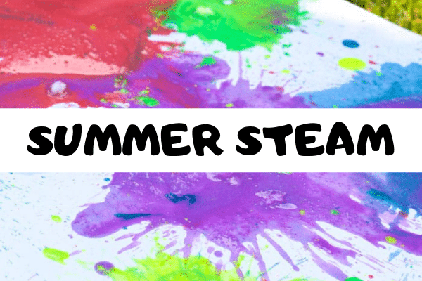 Try these summer STEM activities and prevent summer slide this year! Make learning fun through the summer with these fun STEM activities for summer. Kids will love learning about summer science, technology, engineering, and math. #sumemrlearning #summerfun #summer #stem #stemed