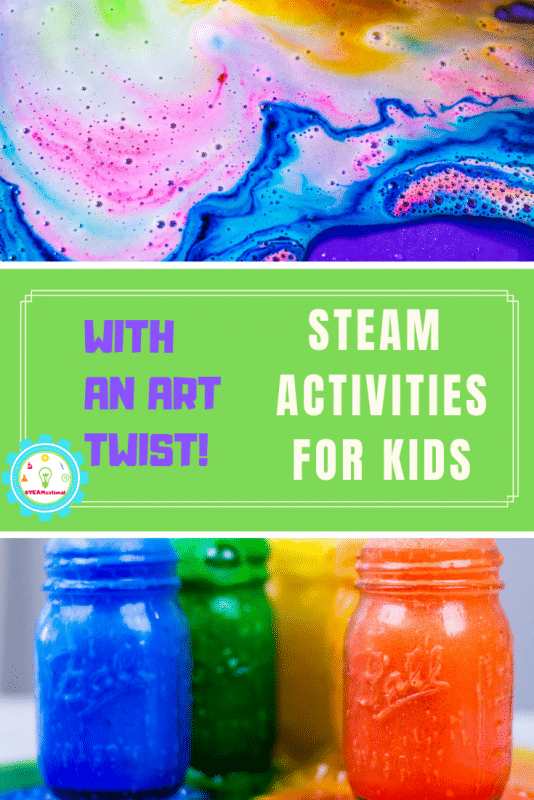 STEAM art projects provide a fun STEM-focused way to learn art and design. These bright and colorful STEAM activities for kids put the art into STEAM! #steamactivities #stemactivities #stemed #stem #kidsactivities