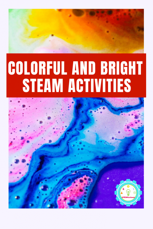 STEAM art projects provide a fun STEM-focused way to learn art and design through the lens of STEM topics. These bright and colorful STEAM activities for kids put the art into STEAM! #steamactivities #stemactivities #stemed #stem #kidsactivities