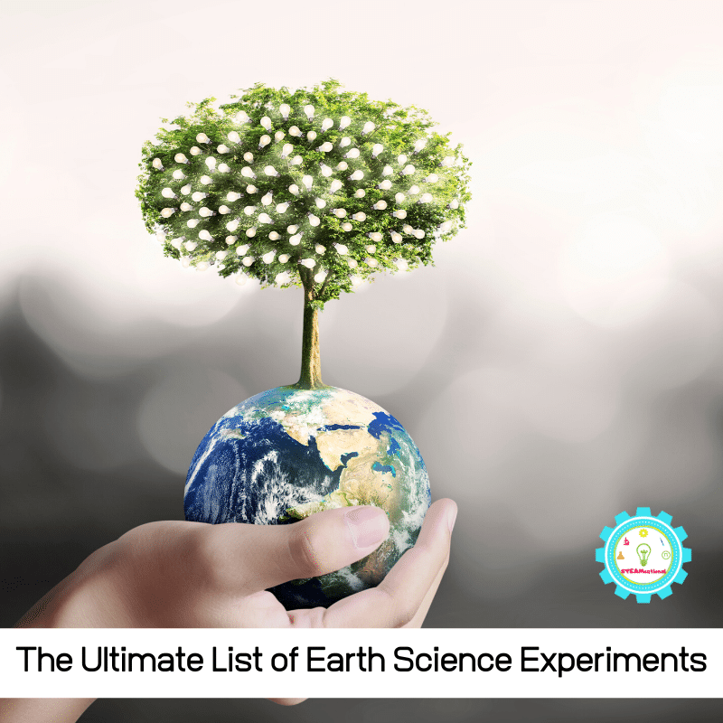 Find everything you need to set up earth science experiments for kindergarten and early elementary kids in this collection of earth science activities!