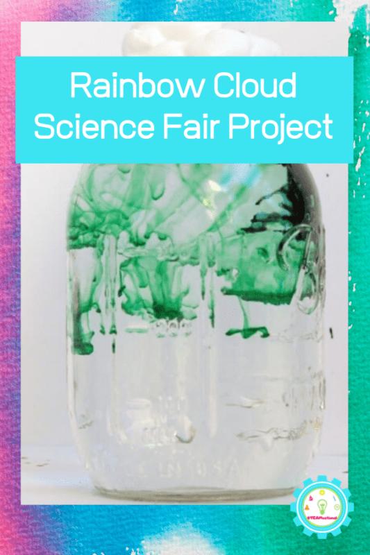rainbow cloud science fair project