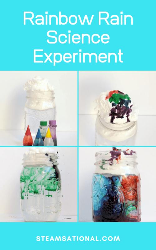 rainbow rain science experiment