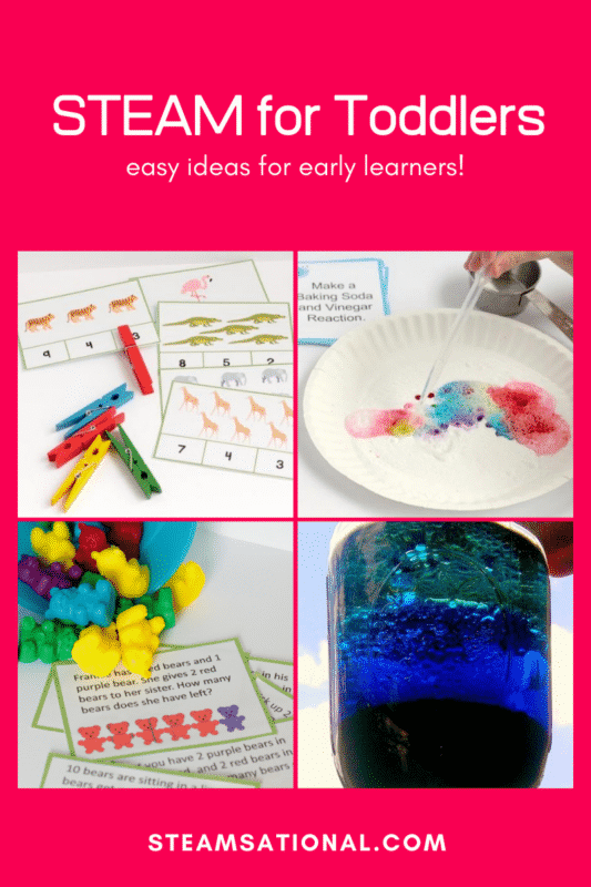 Have a toddler? Start a love of science early with these STEM projects for toddlers! Little ones will love these STEM activities for toddlers!