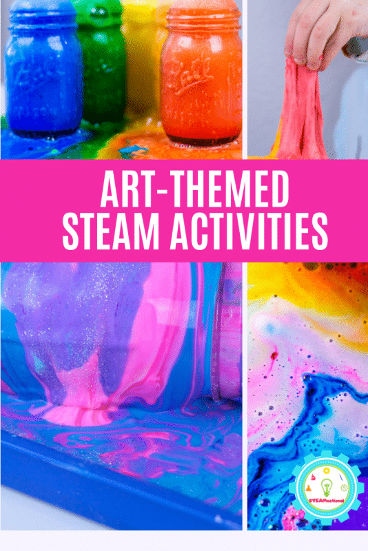 STEM craft ideas provide a fun STEM-focused way to learn art and design. These bright and colorful STEAM activities for kids put the art into STEAM! #steamactivities #stemactivities #stemed #stem #kidsactivities