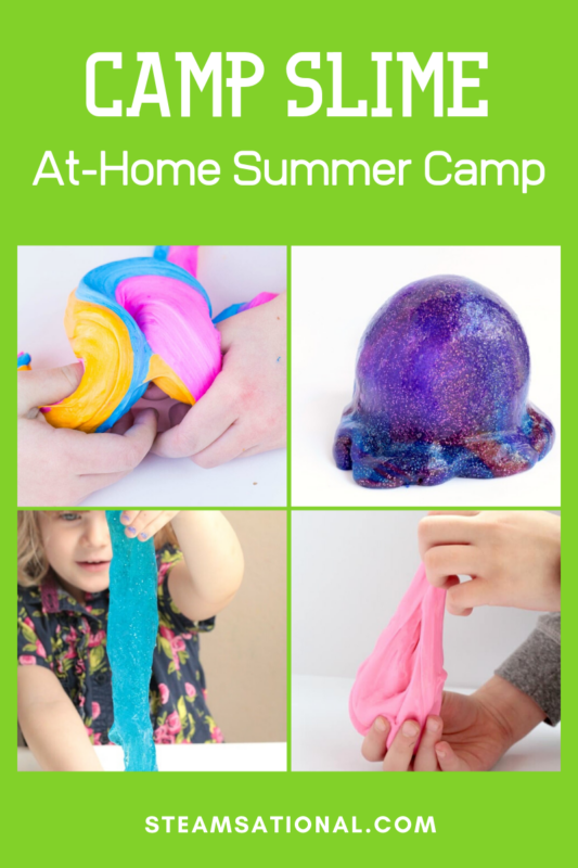 This year, bring the summer camp to your own backyard when you make your own slime camp!