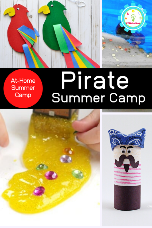Grab your kids, grab some friends, and host this super-fun at-home summer camp with fun pirate summer camp activities and make memories that will last a lifetime!