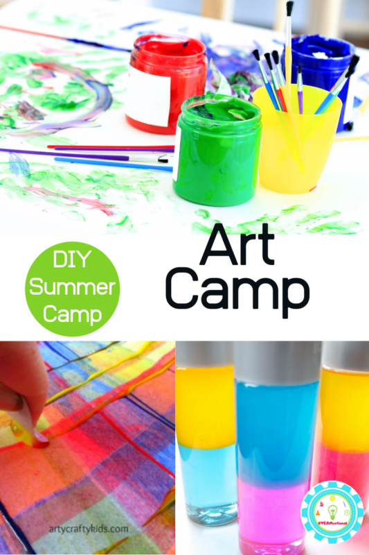 Don't waste money on expensive summer camps, make your own at-home summer camp! This fun theme offers a week of DIY art summer camp ideas for kids.