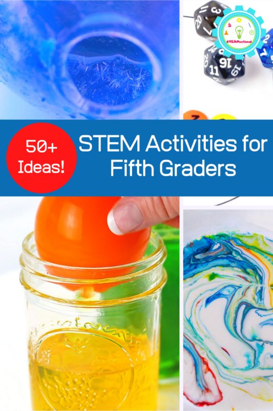 These easy STEM activities for 5th grade are perfect for kids in fifth grade and teach the basics of science, technology, engineering, and math.