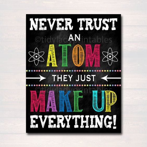 science classroom decorating ideas never trust an atom science bulletin board
