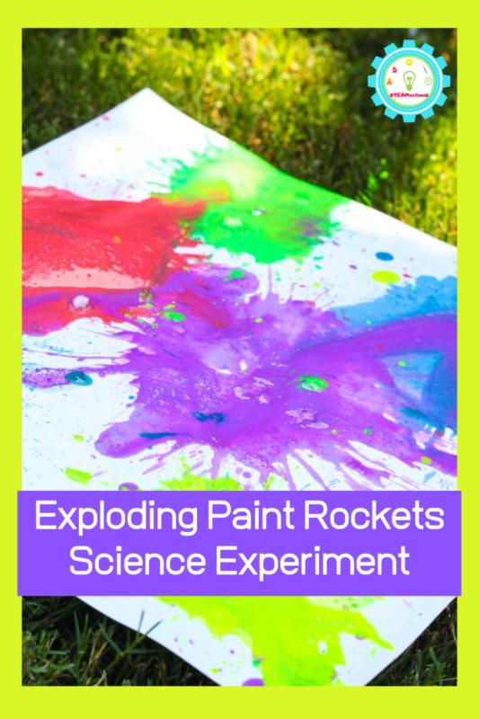 Exploding Paint Rockets Science Experiment