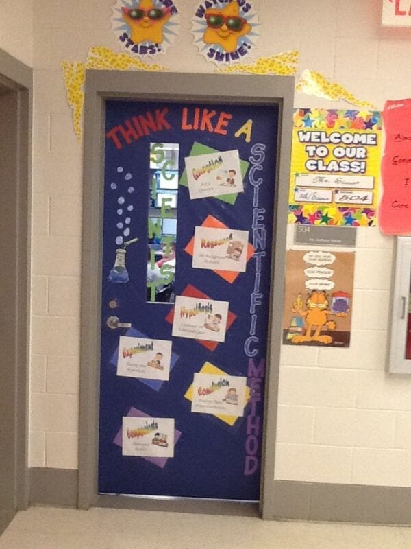 science classroom decorating ideas think like a scientists classroom door