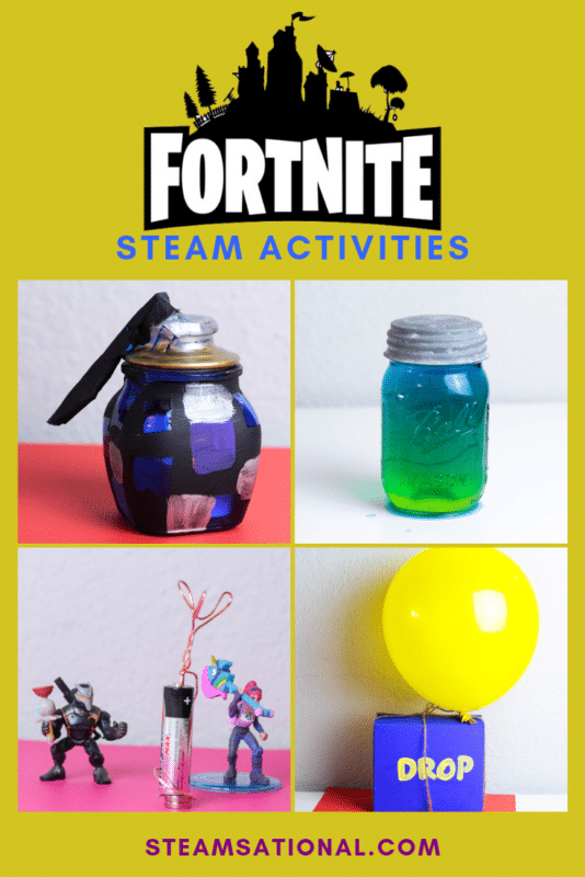 Love Fortnite? Love science and STEM activities? These Fortnite STEAM activities are the perfect way to bring science experiments for kids to life! #stemactivities #fortnite #steamactivity #stemed #science #kidsactivities