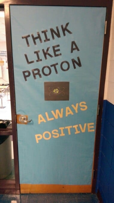 Proton themed science door