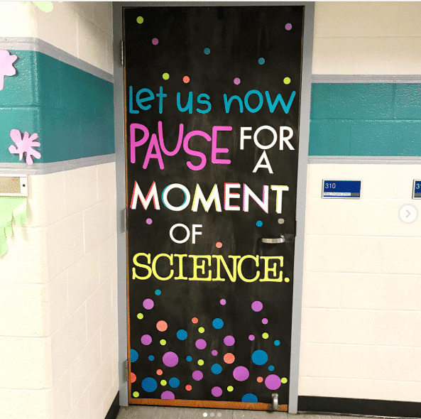 science classroom door