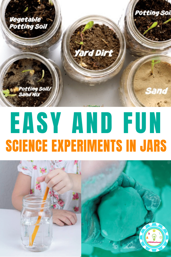 Jars are a surprisingly powerful learning tool. In this list, you'll find a collection of STEM activities and science experiments in a jar! #teachingstem #stemactivities #stemed #stem #steamactivities #scienceteacher #science