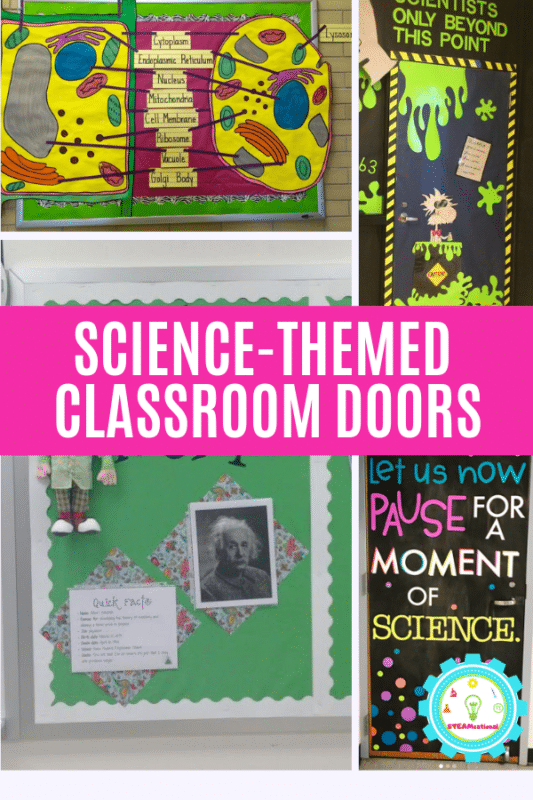 Get inspired for the new school year with these clever science classroom decorating ideas for elementary and middle school. #classroomdecorating #classroomideas #scienceclass #stemed #stemactivities #teaching #teachingideas