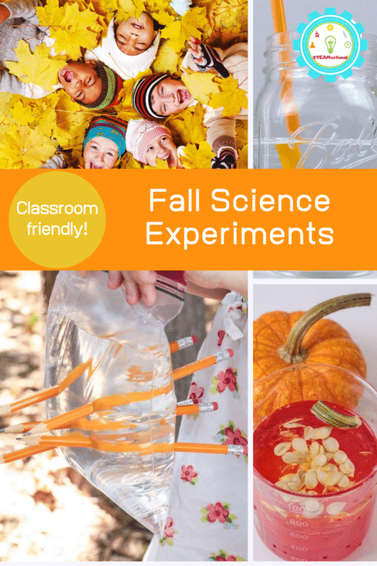 When the leaves start to turn colors and temperatures start to drop, it's time for fall science experiments. These autumn science experiments are perfect for elementary!