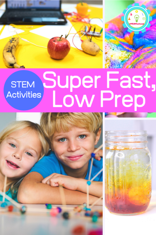 STEM activities (activities with elements of science, technology, engineering, and math) help children see that science and math can have a creative element, too. Try these quick STEM challenges when you don't have tons of time to plan!