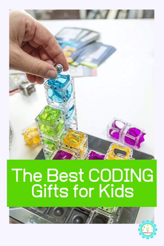 """Collage of coding toys for kids that says """"the best coding gifts for kids"""""""