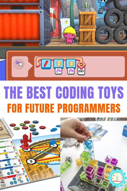 """Collage of coding toys for kids that says """"the best coding toys for future programmers"""""""""""