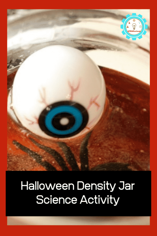 halloween density in a jar experiment