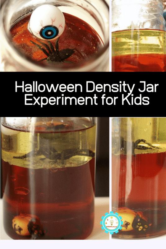 halloween density jar experiment