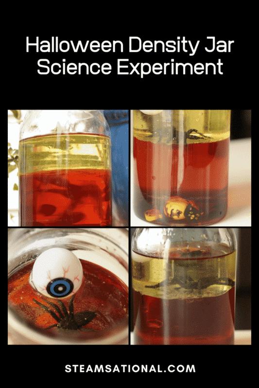 halloween density jar science experiment
