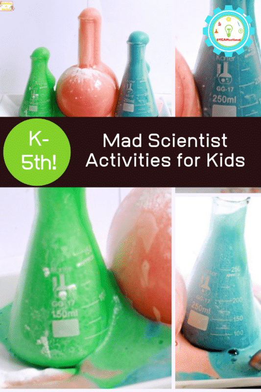Halloween is the perfect time to celebrate mad scientists. Try this fun erupting mad scientist potion in your Halloween mad scientist lab!