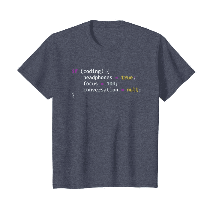 programming shirt for kids that has coding on it