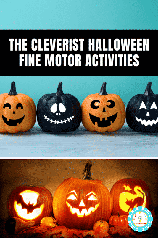 Little ones will love to celebrate with these Halloween fine motor activities for preschoolers and toddlers that are delightful, not frightful.