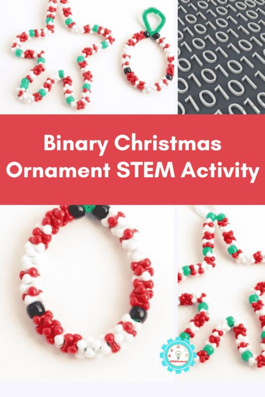 binary christmas ornament