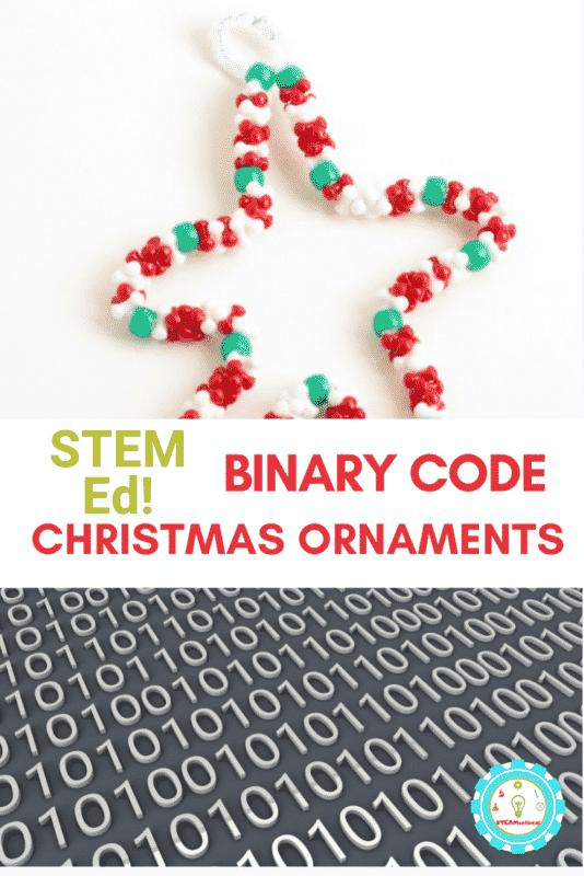 binary code christmas ornaments