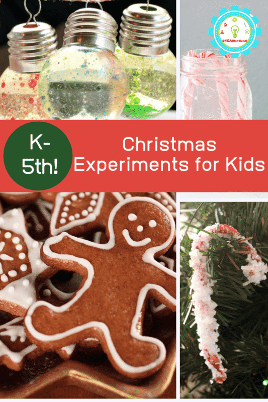 If you love Christmas science experiments, this is the list for you! Kids will have a blast completing these Christms science projects.
