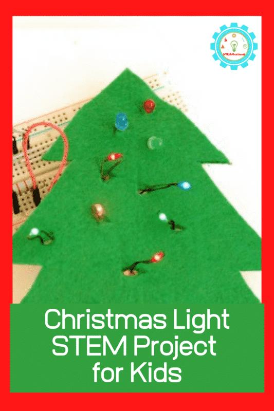 christmas light stem project