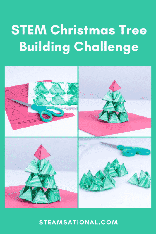 stem christmas tree building challenge