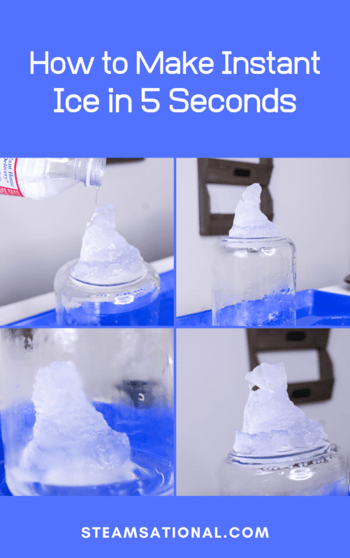 how to make ice in five seconds