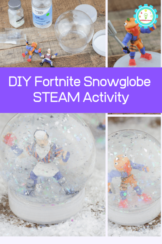 diy fortnite snow globe