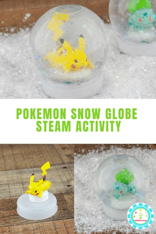 homemade pokemon snow globe