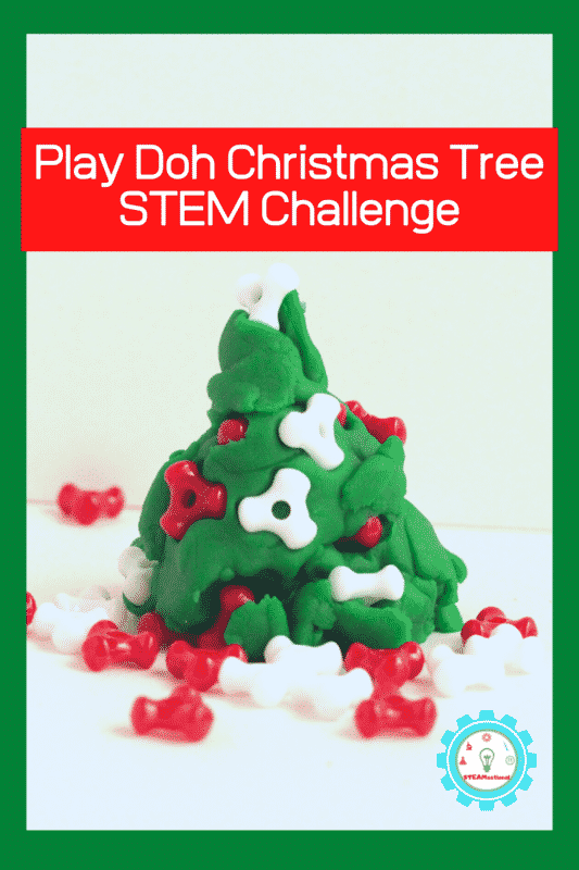 Play Doh Christmas Tree STEM Challenge