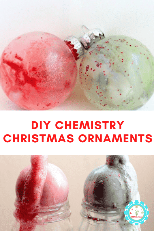 Make your Christmas STEM activities last when you make these erupting Christmas ornaments using baking soda and vinegar chemical reactions.