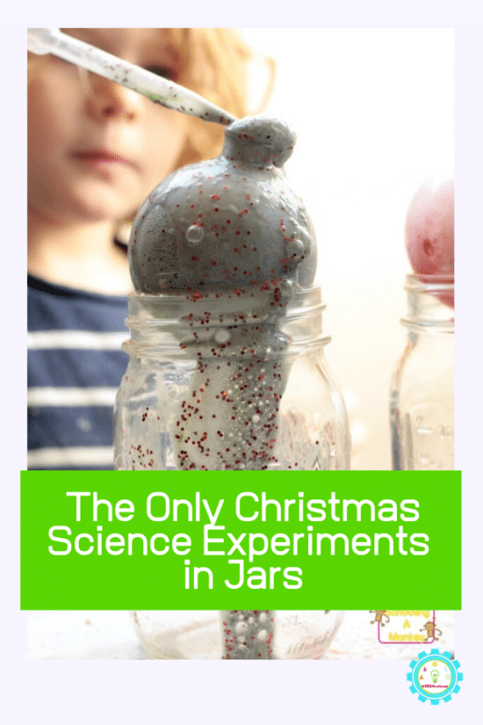 christmas science experiments in jars