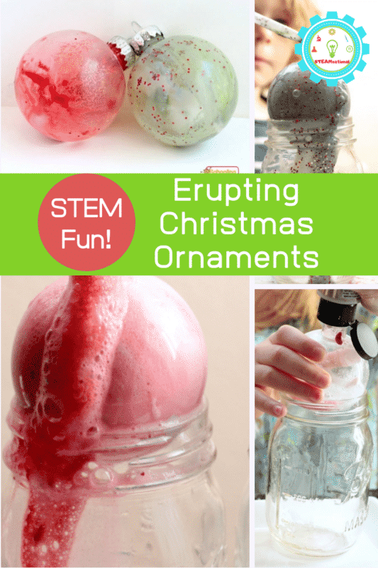 erupting christmas ornaments